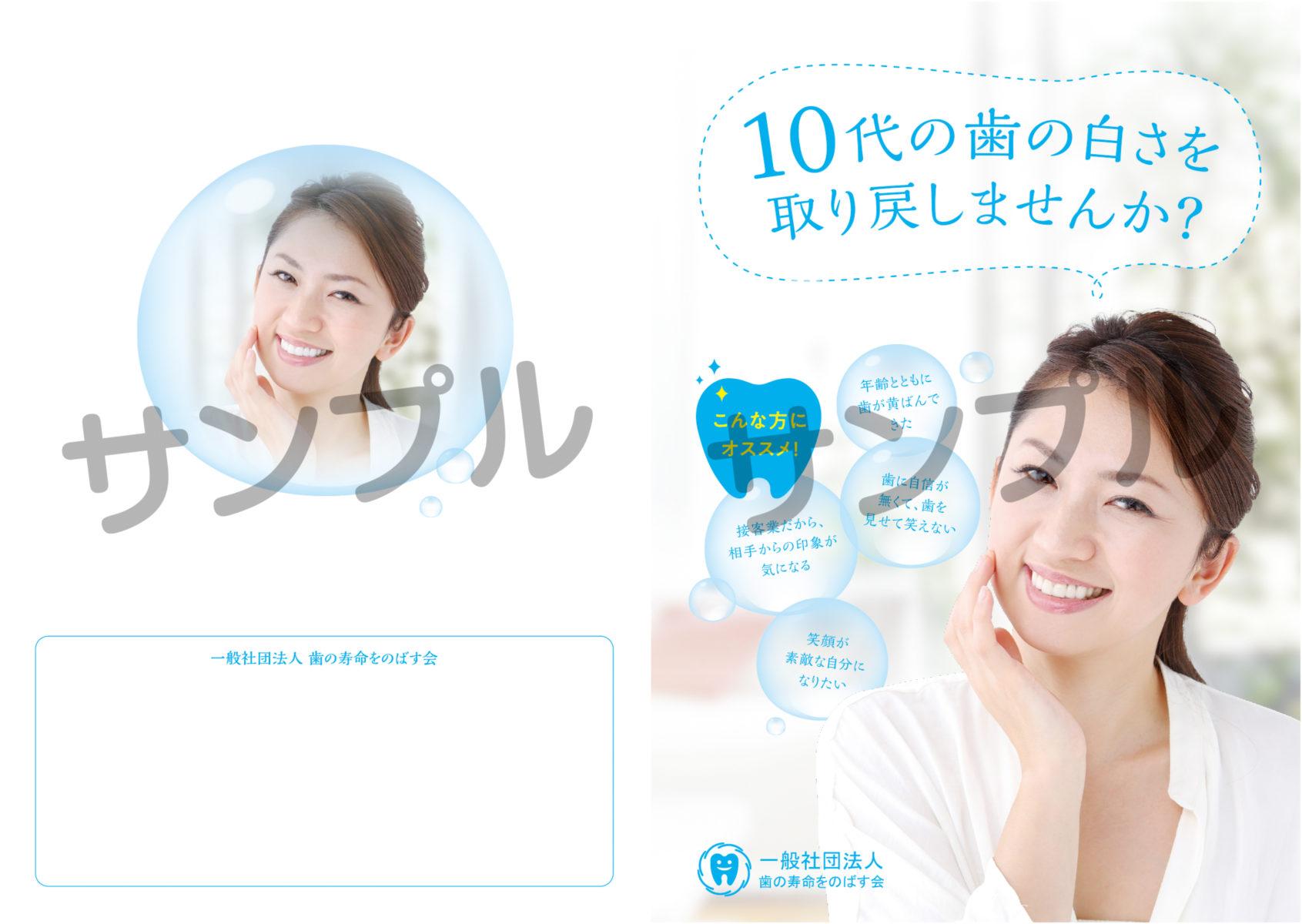 10代の歯の白さを取り戻しませんか? 小冊子サンプル画像1