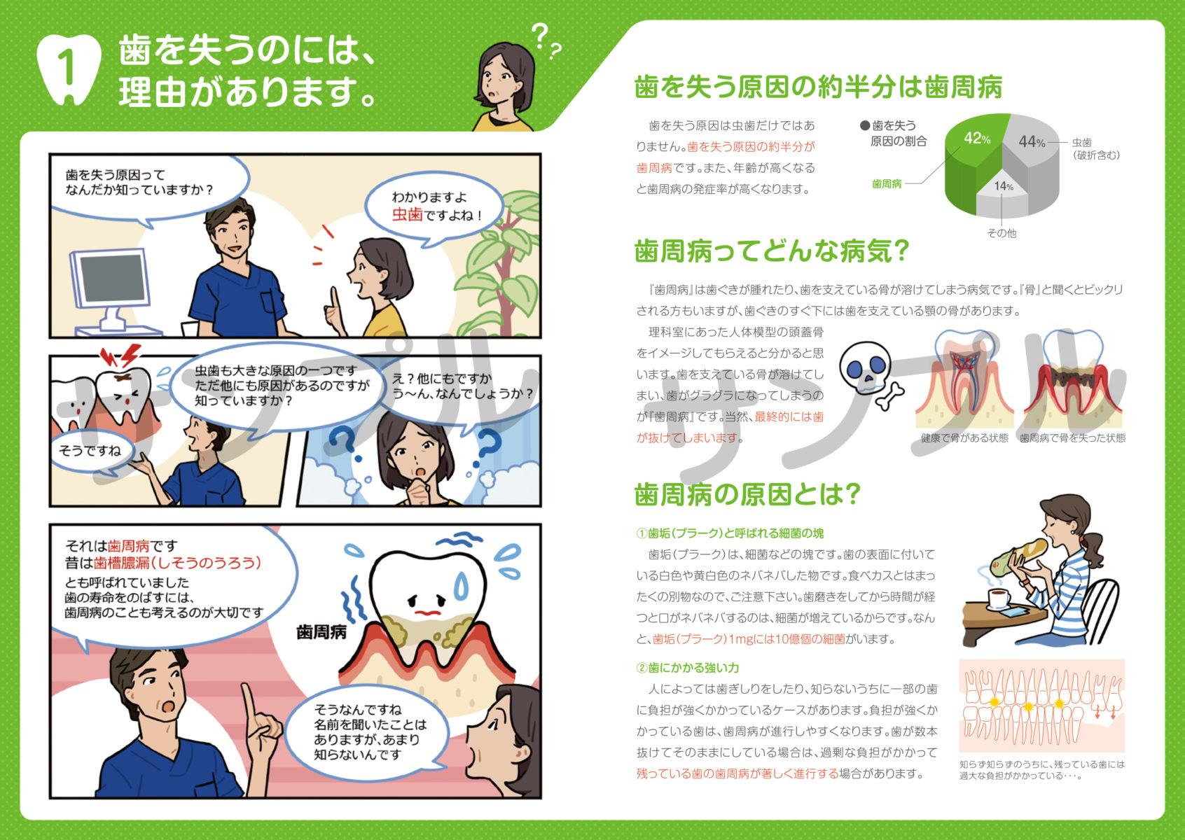 歯周病治療やメンテのモチベーションが上がる小冊子サンプル画像2