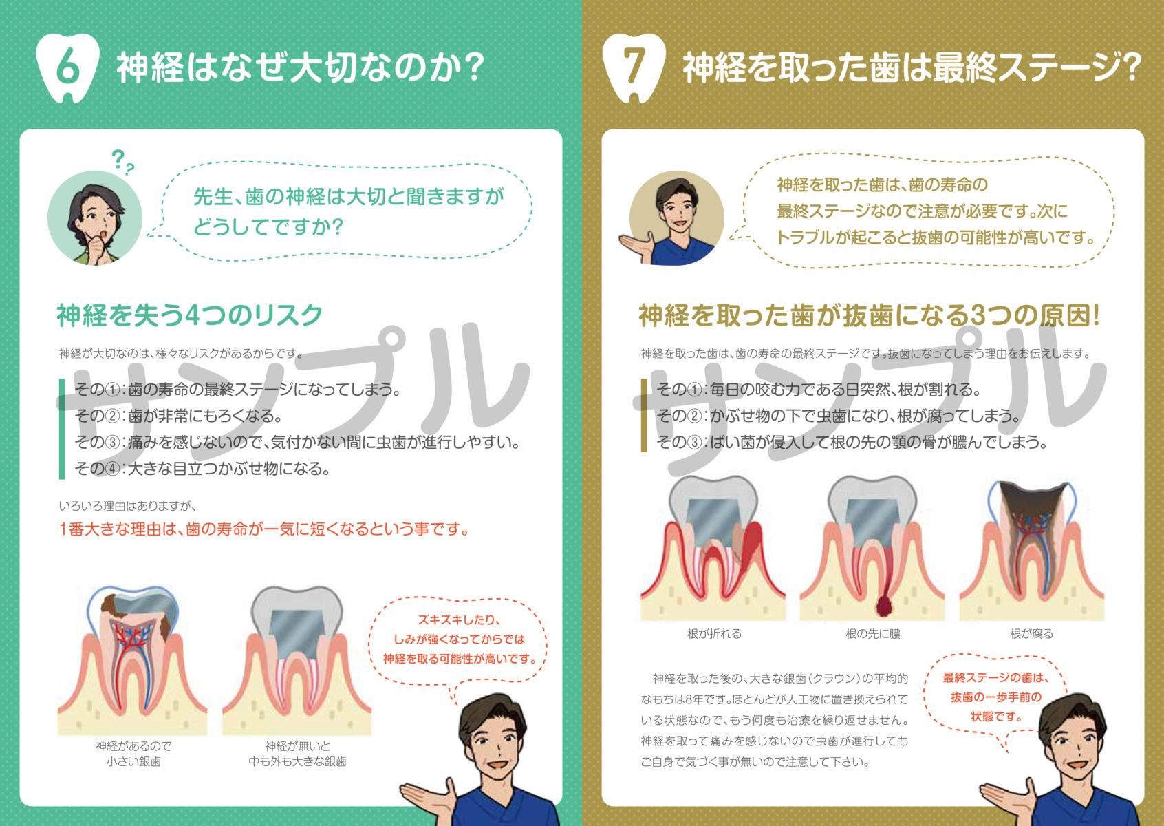 虫歯や根治のモチベーションが上がる小冊子サンプル画像3